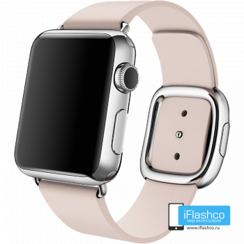 Кожаный ремешок Apple Modern Buckle Soft Pink для Apple Watch 38 - 40 мм розовый
