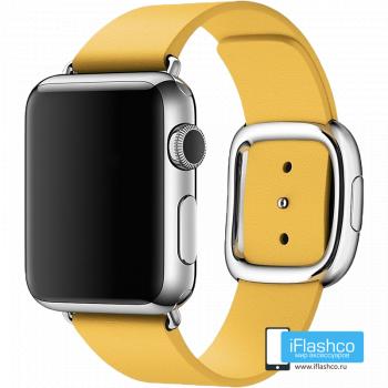 Кожаный ремешок Apple Modern Buckle Yellow для Apple Watch 38 - 40 мм желтый