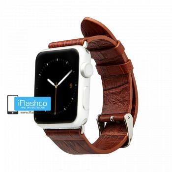 Кожаный ремешок Jisoncase Premium для Apple Watch 38 - 40mm коричневый (с крепежом)