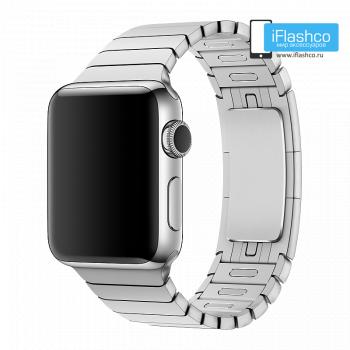 Металлический ремешок Apple Link Bracelet Silver для Apple Watch 38 - 40mm серебристый