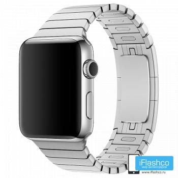 Металлический ремешок Apple Link Bracelet Silver для Apple Watch 42 - 44mm серебристый