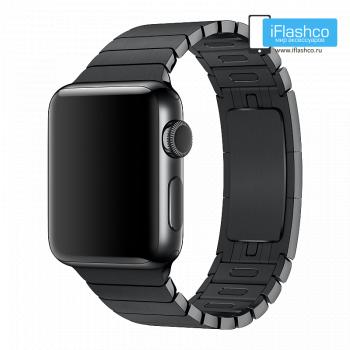 Металлический ремешок Apple Link Bracelet Space Black для Apple Watch 38 - 40mm черный