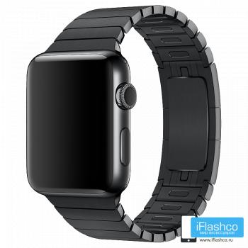 Металлический ремешок Apple Link Bracelet Space Black для Apple Watch 42 - 44mm черный