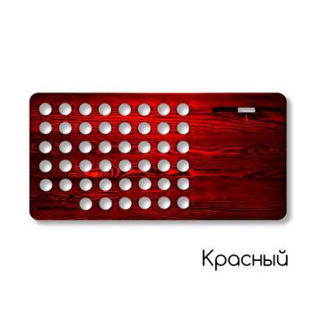 Мобильный рабочий стол из дерева iWood красный
