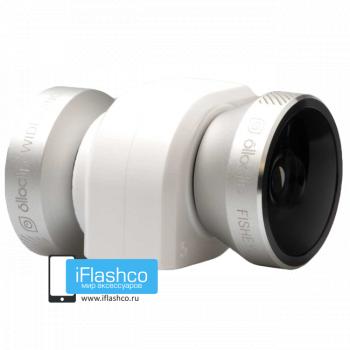 Объектив Olloclip Fisheye 3-в-1 для iPhone 4 / 4S белый