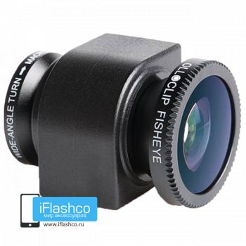 Объектив Olloclip Fisheye 3-в-1 для iPhone 4 / 4S черный