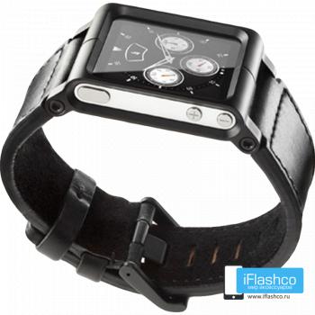 Ремешок / браслет кожаный Chicago Collection для iPod nano 6 черный