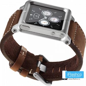 Ремешок / браслет кожаный Chicago Collection для iPod nano 6 коричневый