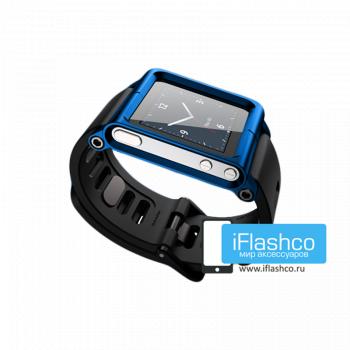 Ремешок / браслет LunaTik Blue для iPod nano 6 синий