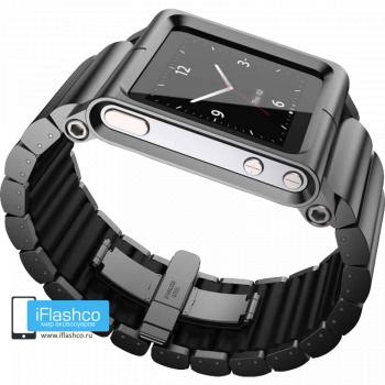 Ремешок / браслет LunaTik LYNK Blackout для iPod nano 6 черный