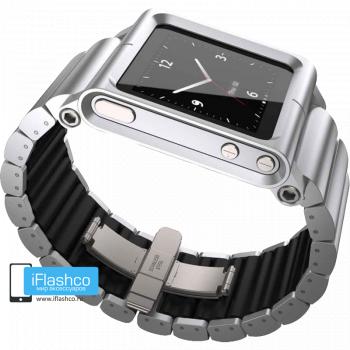 Ремешок / браслет LunaTik LYNK Silver для iPod nano 6 серебристый