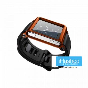 Ремешок / браслет LunaTik Orange для iPod nano 6 оранжевый