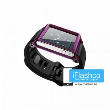 Ремешок / браслет LunaTik Purple для iPod nano 6 фиолетовый
