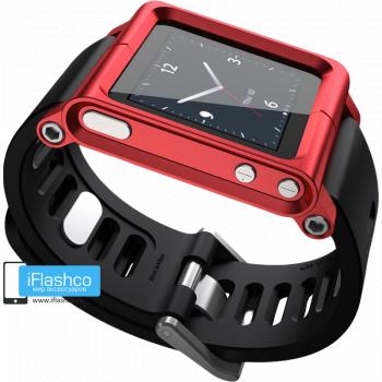 Ремешок / браслет LunaTik RedRun для iPod nano 6 красный