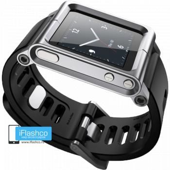 Ремешок / браслет LunaTik Silver для iPod nano 6 серебристый