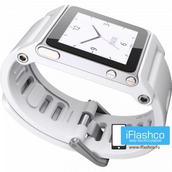 Ремешок / браслет LunaTik TikTok для iPod nano 6 белый