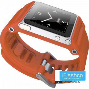 Ремешок / браслет LunaTik TikTok для iPod nano 6 оранжевый / оранжевый ремешок