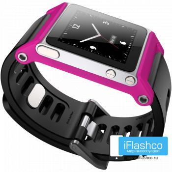 Ремешок / браслет LunaTik TikTok для iPod nano 6 розовый / черный ремешок
