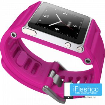 Ремешок / браслет LunaTik TikTok для iPod nano 6 розовый / розовый ремешок