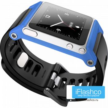 Ремешок / браслет LunaTik TikTok для iPod nano 6 синий / черный ремешок