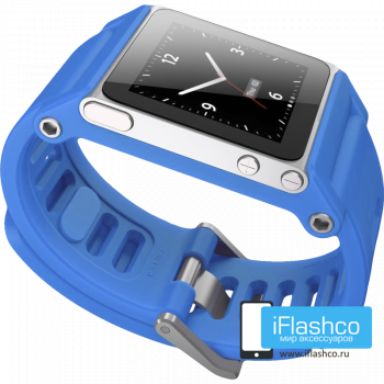 Ремешок / браслет LunaTik TikTok для iPod nano 6 синий / синий ремешок