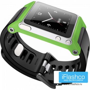 Ремешок / браслет LunaTik TikTok для iPod nano 6 зеленый / черный ремешок