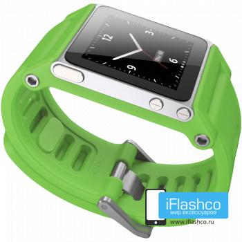 Ремешок / браслет LunaTik TikTok для iPod nano 6 зеленый / зеленый ремешок