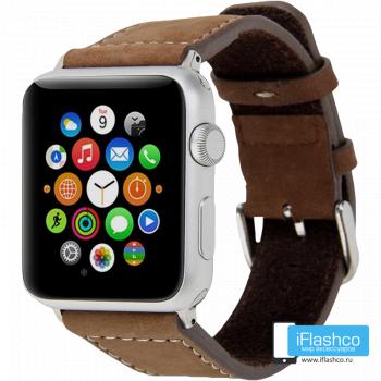 Ремешок Lunatik Chicago Collection для Apple Watch 42 - 44mm Brown коричневый (с крепежом)