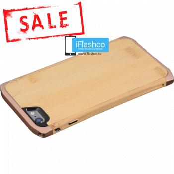 Ronin Wood для iPhone 6 Plus / 6s Plus - Bamboo светлое дерево / розовые вставки