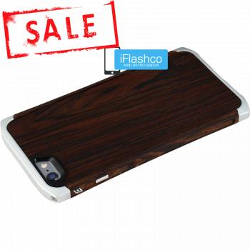 Ronin Wood для iPhone 6 Plus / 6s Plus - Wenge темное дерево / светлые вставки
