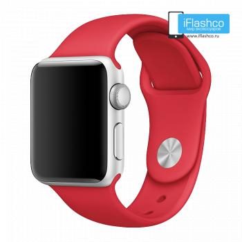 Силиконовый ремешок Apple Sport Band Red 38 - 40 мм
