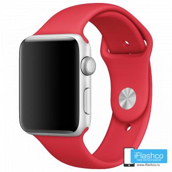 Силиконовый ремешок Apple Sport Band Red 42 - 44mm