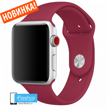 Силиконовый ремешок Apple Sport Band Rose Red 42 - 44mm