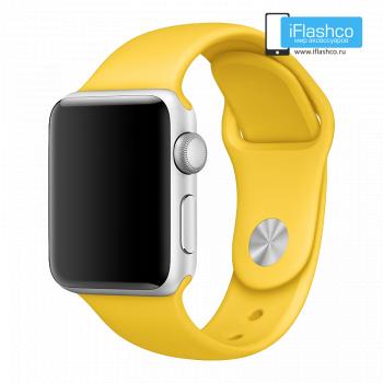 Силиконовый ремешок Apple Sport Band Yellow 38 - 40 мм