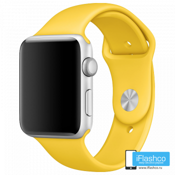 Силиконовый ремешок Apple Sport Band Yellow 42 - 44 мм