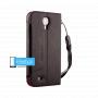 Soft-Tec Wallet для Samsung Galaxy S4 GT-I9500 черный с красным (Black Leather/Red)