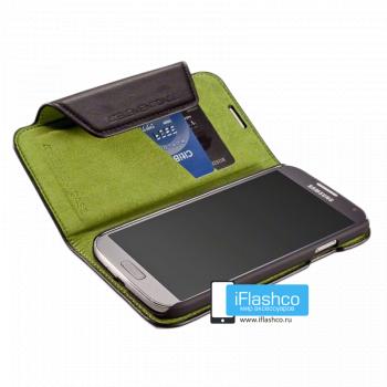 Soft-Tec Wallet для Samsung Galaxy S4 GT-I9500 черный с зеленым (Black Leather/Green)