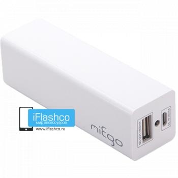 Внешний аккумулятор Miego 2400 mAh белый
