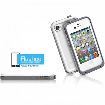 Водонепроницаемый чехол LifeProof fre iPhone 4 / 4S белый