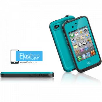 Водонепроницаемый чехол LifeProof fre iPhone 4 / 4S бирюзовый