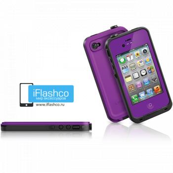 Водонепроницаемый чехол LifeProof fre iPhone 4 / 4S фиолетовый