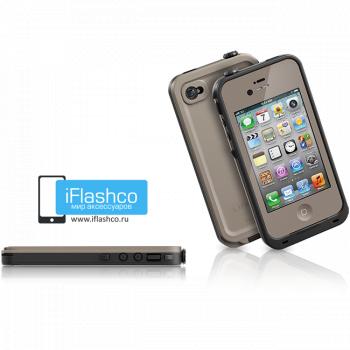 Водонепроницаемый чехол LifeProof fre iPhone 4 / 4S коричневый