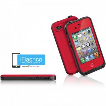 Водонепроницаемый чехол LifeProof fre iPhone 4 / 4S красный