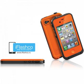 Водонепроницаемый чехол LifeProof fre iPhone 4 / 4S оранжевый