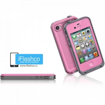 Водонепроницаемый чехол LifeProof fre iPhone 4 / 4S розовый