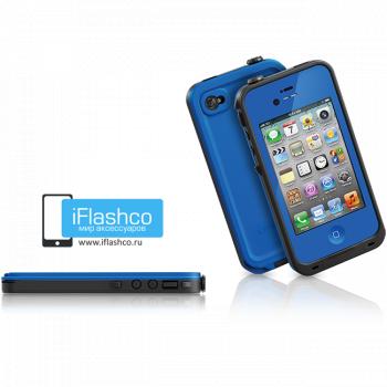 Водонепроницаемый чехол LifeProof fre iPhone 4 / 4S синий