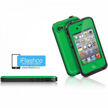Водонепроницаемый чехол LifeProof fre iPhone 4 / 4S зеленый