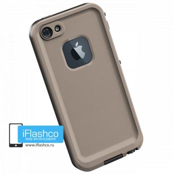 Водонепроницаемый чехол Redpepper iPhone 5 / 5S / SE бежевый