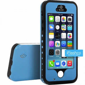 Водонепроницаемый чехол Redpepper iPhone 5 / 5S / SE голубой