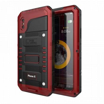 Водонепроницаемый чехол Seacosmo для iPhone X/Xs красный
